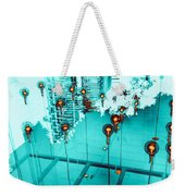 Aqua Reflections Weekender Tote Bag