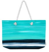 Aqua Sky - Bold Abstract Landscape Art Weekender Tote Bag by Sharon Cummings