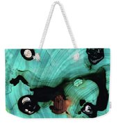 Aqua Teal Art - Volley - Sharon Cummings Weekender Tote Bag