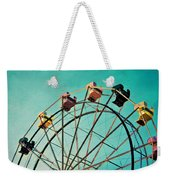 Aquamarine Dream - Ferris Wheel Art Weekender Tote Bag
