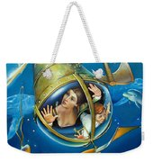 Aquaria Rising From Mask Of The Ancient Mariner Weekender Tote Bag