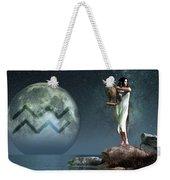 Aquarius Zodiac Symbol Weekender Tote Bag