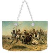 Arab Horsemen On The Attack Weekender Tote Bag by Adolf Schreyer