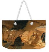 Arabs In The Desert Weekender Tote Bag by Frederick Goodall