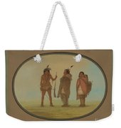Arapaho Chief, His Wife, And A Warrior Weekender Tote Bag