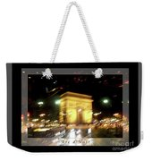 Arc De Triomphe By Bus Tour Greeting Card Poster V1 Weekender Tote Bag