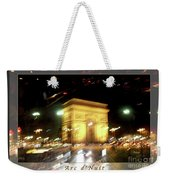 Arc De Triomphe By Bus Tour Greeting Card Poster V2 Weekender Tote Bag