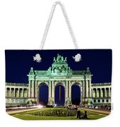 Arcade Du Cinquantenaire At Night - Brussels Weekender Tote Bag