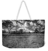 Arch Swing Set In The Park 76 In Black And White Weekender Tote Bag