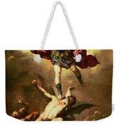 Archangel Michael Overthrows The Rebel Angel Weekender Tote Bag