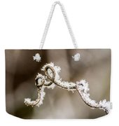 Arched Frosty Curlique Weekender Tote Bag