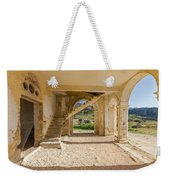 Arches, Entrance And Stairs Of Derelict Agios Georgios Church Weekender Tote Bag