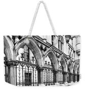 Arches Front Of The Royal Courts Of Justice London Weekender Tote Bag