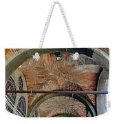 Architectural Ceiling Of The Building Owned By The Rialto Market In Venice, Italy Weekender Tote Bag