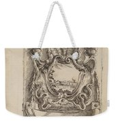 Architectural Motif With A Landscape Weekender Tote Bag