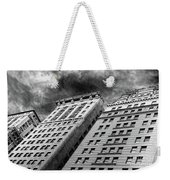 Architecture Tall Buildings Bw Nyc  Weekender Tote Bag