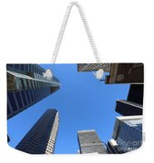 Architecture Tall Color Buildings Weekender Tote Bag