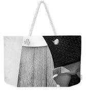 Arcs And Tangents Houston Water Wall In Black And White Weekender Tote Bag