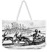 Arctic Sledding, C1618 Weekender Tote Bag