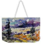 Ardennes Landscape Watercolor Weekender Tote Bag