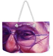 Are You Sure You Have Been Nice Weekender Tote Bag by Shannon Grissom