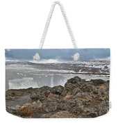 Area By Godafoss Waterfalls, Iceland Weekender Tote Bag