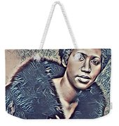 Aretha Franklin Abstract Art Weekender Tote Bag