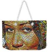 Aretha Franklin Tribute Mosaic Portrait 2 Weekender Tote Bag