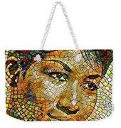 Aretha Franklin Tribute Mosaic Portrait 3 Weekender Tote Bag