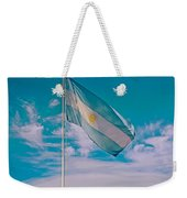 Argentinian Flag In Central Park In Bariloche-argentina  Weekender Tote Bag