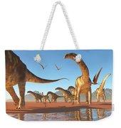 Argentinosaurus Herd Weekender Tote Bag