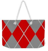 Argyle Diamond With Crisscross Lines In Paris Gray N02-p0126 Weekender Tote Bag