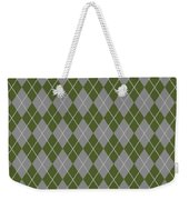 Argyle Diamond With Crisscross Lines In Paris Gray T09-p0126 Weekender Tote Bag