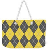 Argyle Diamond With Crisscross Lines In Pewter Gray N05-p0126 Weekender Tote Bag