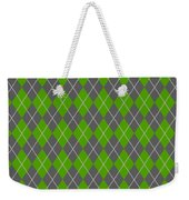 Argyle Diamond With Crisscross Lines In Pewter Gray N09-p0126 Weekender Tote Bag