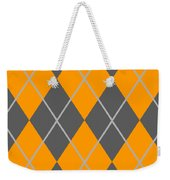 Argyle Diamond With Crisscross Lines In Pewter Gray T03-p0126 Weekender Tote Bag