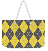 Argyle Diamond With Crisscross Lines In Pewter Gray T05-p0126 Weekender Tote Bag