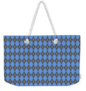 Argyle Diamond With Crisscross Lines In Pewter Gray T18-p0126 Weekender Tote Bag