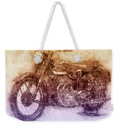 Ariel Square Four 2 - 1931 - Vintage Motorcycle Poster - Automotive Art Weekender Tote Bag