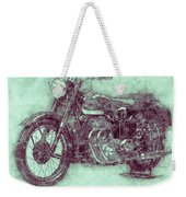 Ariel Square Four 3 - 1931 - Vintage Motorcycle Poster - Automotive Art Weekender Tote Bag