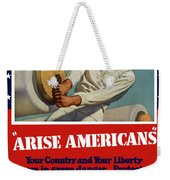 Arise Americans Join The Navy  Weekender Tote Bag by War Is Hell Store