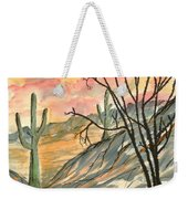 Arizona Evening Southwestern Landscape Painting Poster Print  Weekender Tote Bag