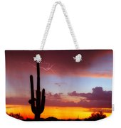 Arizona Lightning Sunset Weekender Tote Bag