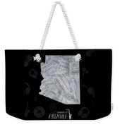 Arizona Map Music Notes 2 Weekender Tote Bag
