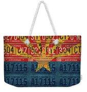 Arizona State Flag Vintage License Plate Art Weekender Tote Bag