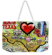 Arlington Texas Cartoon Map Weekender Tote Bag