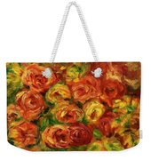 Armful Of Roses 1918 Weekender Tote Bag