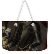 Armor With Blue And Gold Weekender Tote Bag