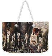 Army Girl Weekender Tote Bag