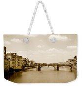 Arno River Florence Weekender Tote Bag